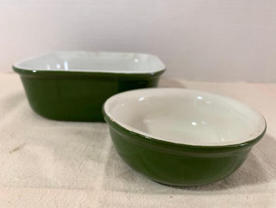 2 Piece Lot of Vintage Hall Bakeware - As Pictured