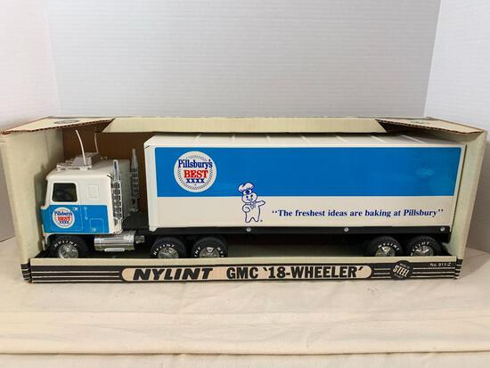 """Nylint Steel GMC Pillsbury Doughboy 18 Wheeler Toy Truck New in Box. This is 19"""" Long - As Pictured"""
