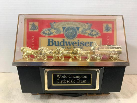 """Budweiser World Champion Clydesdale Team Beer Light. This is 8"""" Wide x 7"""" Tall - As Pictured"""