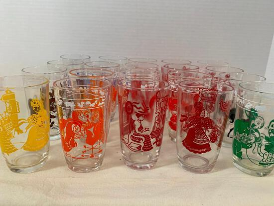 """Large Lot of Juice Glasses. They are 3.5"""" Tall - As Pictured"""