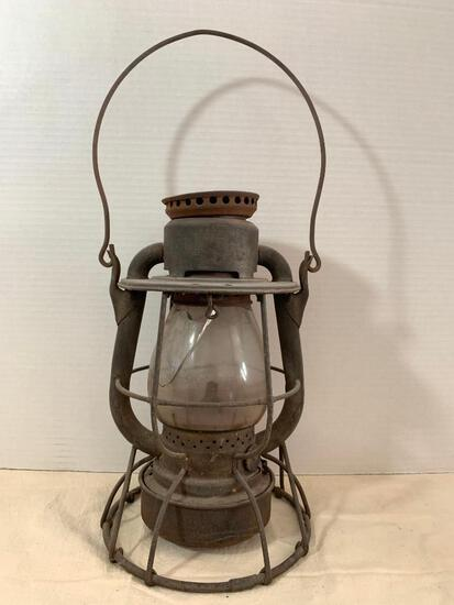 """Antique Dietz Vesta Oil Lamp. The Globe is Cracked. This Stands 11"""" Tall - As Pictured"""