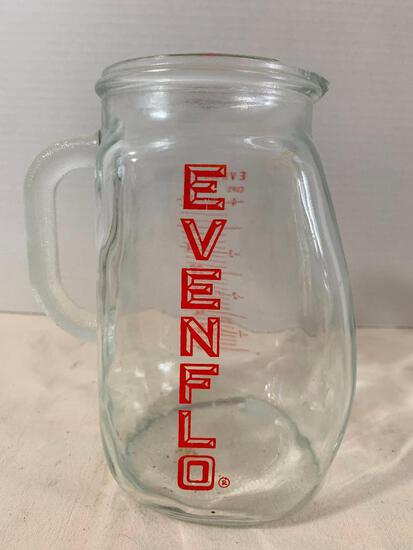 """Evenflo Water Pitcher. Has Chips around the Top Lid. This Item is 7"""" Tall - As Pictured"""