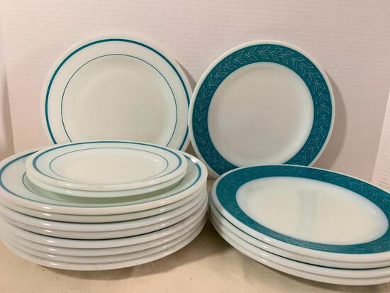 One Set of Pyrex Plates. There are 2 Sets of Patterns - As Pictured