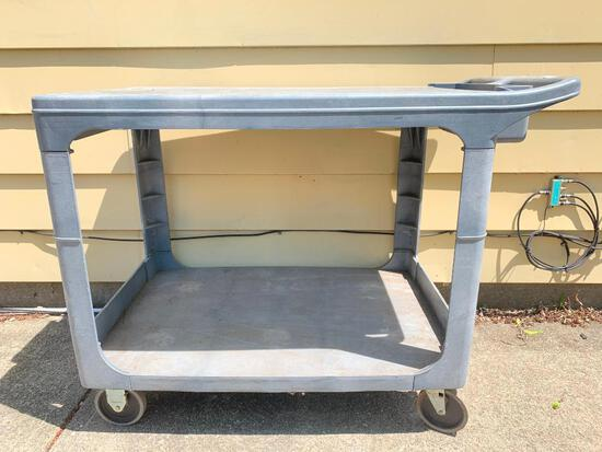 Rubber Maid Cart on Wheels, 33 Inches Tall, 44 Inches Wide and 25 Inches Wide