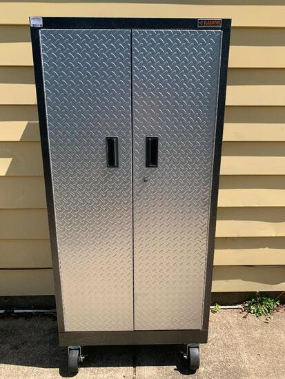 """Gladiator Garageworks Welded Steel Wall Gearbox Cabinets. This Item is 66"""" T x 30"""" W x 19"""" D"""