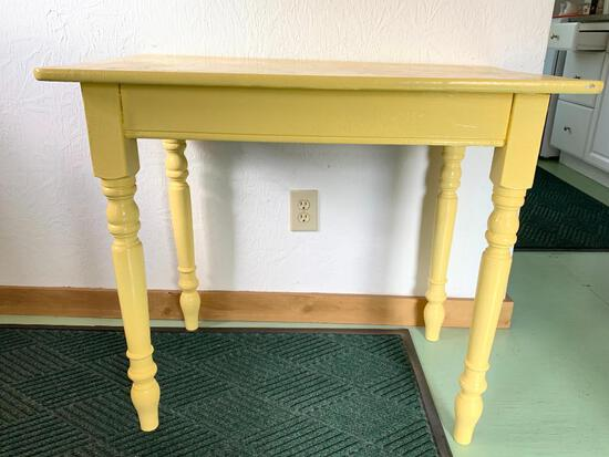 """Small Painted Wood Desk Table. This is 30"""" Tall x 36"""" Wide x 21.5"""" Deep - As Pictured"""