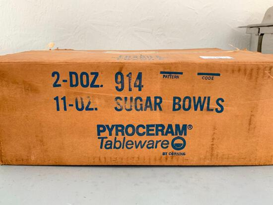 Box of 2 Dozen Sugar Bowls, One is Missing - As Pictured