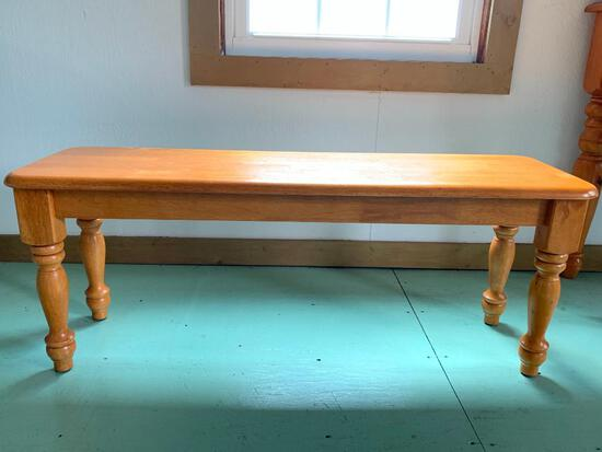 """Solid Wood Bench. This is 18"""" Tall x 46"""" Long x 14"""" Deep - As Pictured"""