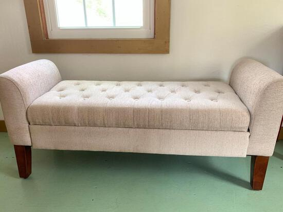 """Small Roll Arm Bench. This is 23"""" Tall x 50"""" Wide x 17"""" Deep - As Pictured"""