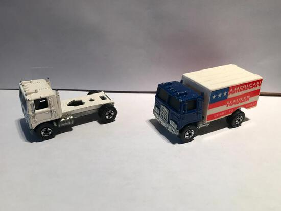 Hot Wheels 1973 American Hauler and 1979 Semi