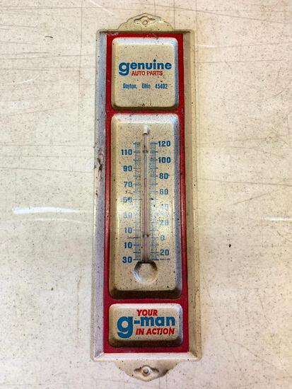 """Metal Thermometer by Genuine Auto Parts Dayton, OH. This is 13"""" Long - As Pictured"""