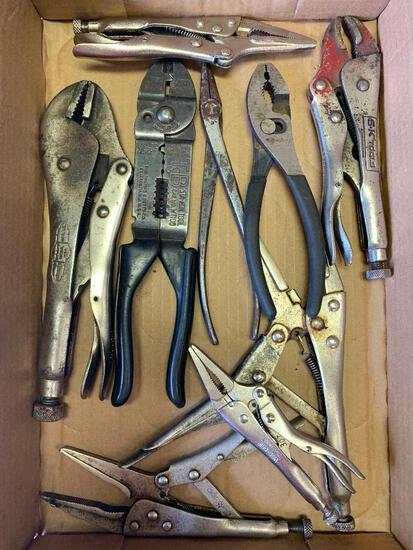 Lot of Vice Grips, Pliers, SK Vice Grip, Etc - As Pictured