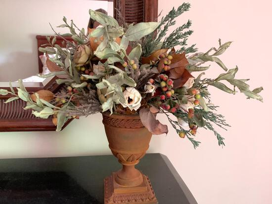"""Decorative Faux Flower Vase. This is 18"""" Tall - As Pictured"""