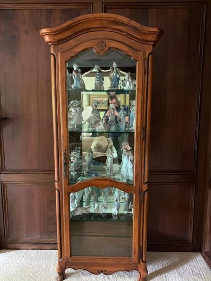 """Solid Wood Curio Cabinet. This is 80.5"""" Tall x 29"""" Wide x 14.5"""" Deep - As Pictured"""
