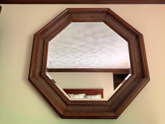 """Large Wood Framed Mirror. This is 43"""" x 43"""" - As Pictured"""