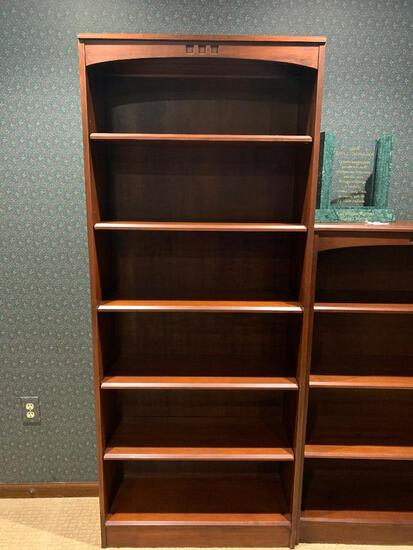"""Ethan Allen Solid Wood Bookcase (1 of 3). This is 73"""" Tall x 30"""" Wide x 11.5"""" Deep. - As Pictured"""