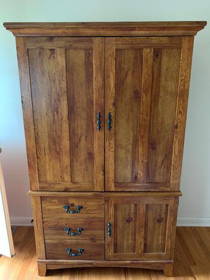 """Fiber Board Entertainment Center. This is 70"""" Tall x 43"""" Wide x 22"""" Deep. - As Pictured"""