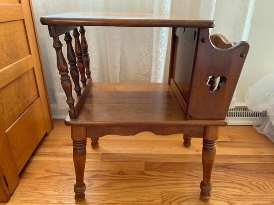 """Lamp/Table/Magazine Rack. This is 25"""" Tall x 20"""" Wide x 15"""" Deep - As Pictured"""