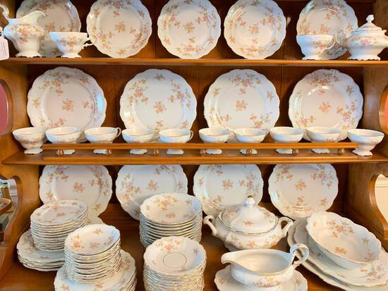 Lot of Bavaria Porcelain China Set Service for 12 - As Pictured