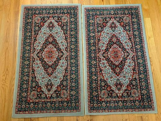 """Pair of Mohawk Entryway Rugs. They are 25"""" x 43"""" - As Pictured"""