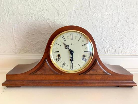 """Howard Miller Mantle Clock. This is 9.5"""" Tall x 20.5"""" Wide - As Pictured"""