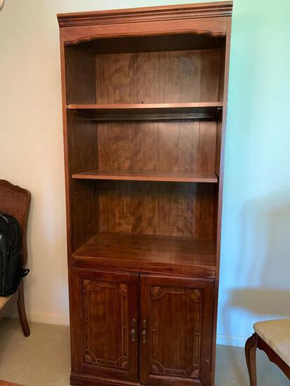 Fiber Board Bookshelf. Has Wear on Edges. Matching Lot #17 & #19 - As Pictured