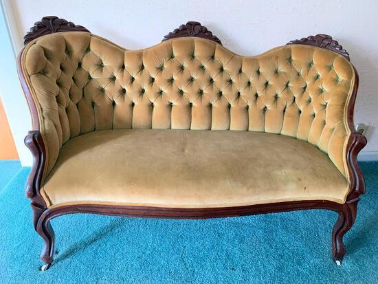 """Beautiful Rolling Settee. This is 30"""" Tall x 54"""" Wide x 18"""" Deep - As Pictured"""