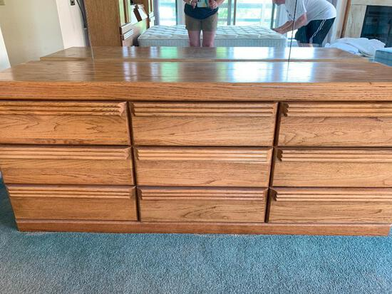 """Solid Wood 9 Drawer Dresser. This is 30"""" Tall x 72"""" Long x 20"""" Deep - As Pictured"""