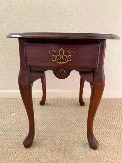 """Solid Wood Side Table. This is 22"""" Tall x 26"""" Wide- As Pictured"""