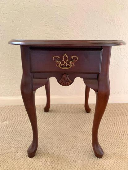 """Solid Wood Side Table. This is 22"""" Tall x 26"""" Wide - As Pictured"""