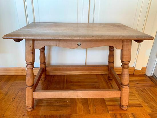 """Wood Side Table 18"""" x 26.5"""" W x 16"""" D - As Pictured"""