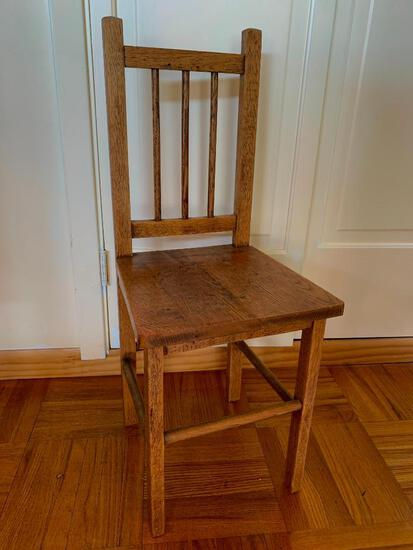 """Youth Size Wood Chair. This is 29"""" T x 11"""" W x 12"""" D - As Pictured"""