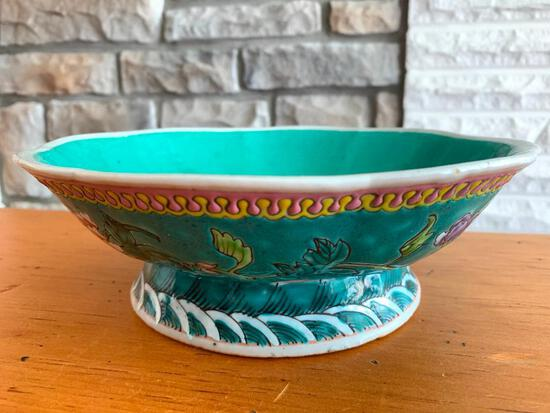 """Hand Painted Pottery Bowl. This is 3"""" Tall x 9"""" in Diameter - As Pictured"""