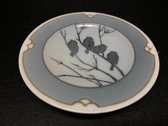 """Royal Copenhagen Porcelain Plate . This is 3.75"""" in Diameter - As Pictured"""