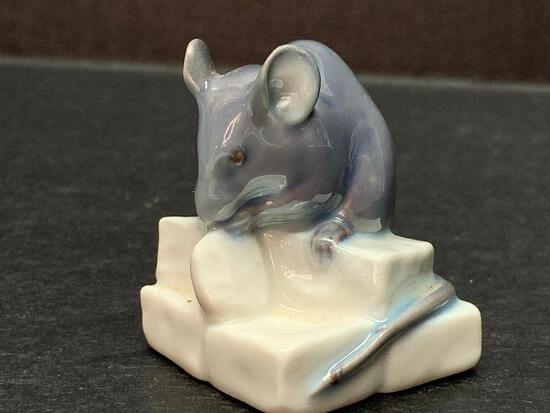 """Royal Copenhagen Porcelain Mouse. This is 1.75"""" Tall - As Pictured"""