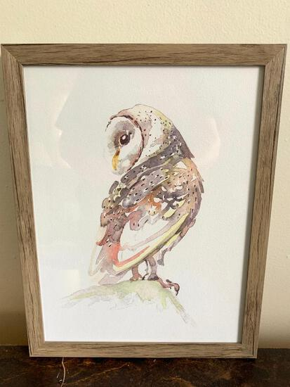 """11"""" x 14"""" Print of an Owl. -- As Pictured"""