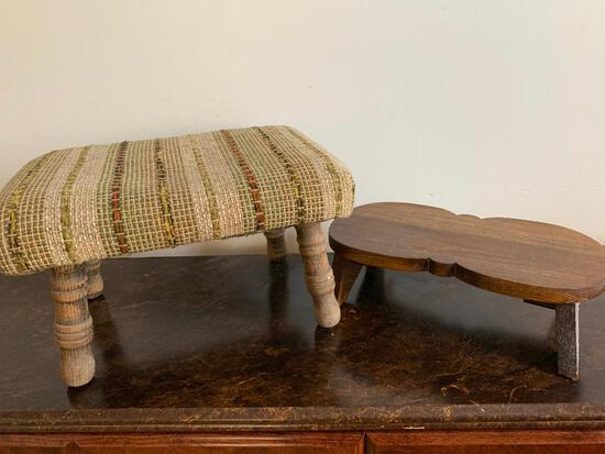 """2 Footstools. The Largest is 10"""" T x 16"""" W x 12"""" D - As Pictured"""