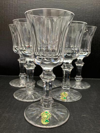 """Set of 6 Waterford Crystal Stemmed Wine Glass. They are 6"""" Tall - As Pictured"""