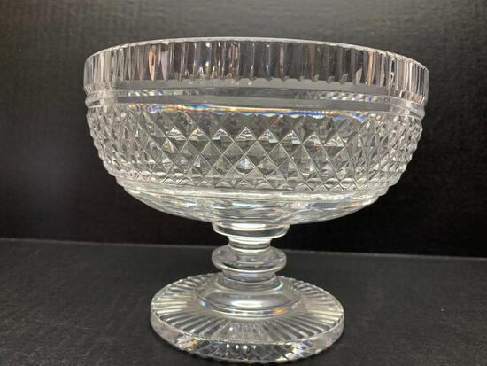 """Waterford Crystal Footed Centerpiece Bowl. This is 6"""" Tall - As Pictured"""