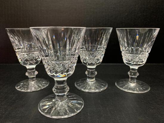 """Set of 4 Waterford Crystal Cordial Glasses. They are 3"""" Tall - As Pictured"""