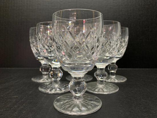 """Set of 6 Waterford Crystal Cordial Glasses. They are 4"""" Tall - As Pictured"""
