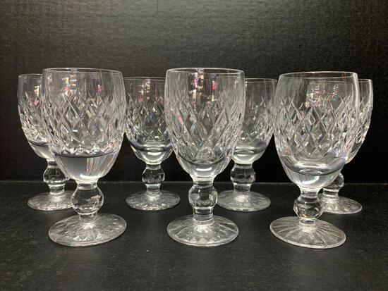 """Set of 7 Cordial Glasses. They are 4.25"""" Tall and 1 Has Chip on the Rim - As Pictured"""