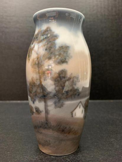 "Dahl Jensen Copenhagen Porcelain Vase Marked 36. This is 4.5"" Tall - As Pictured"