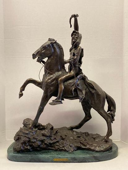 """Frederic Remington """"The Scout"""" Sculpture. This is 25"""" T x 20 L - As Pictured"""