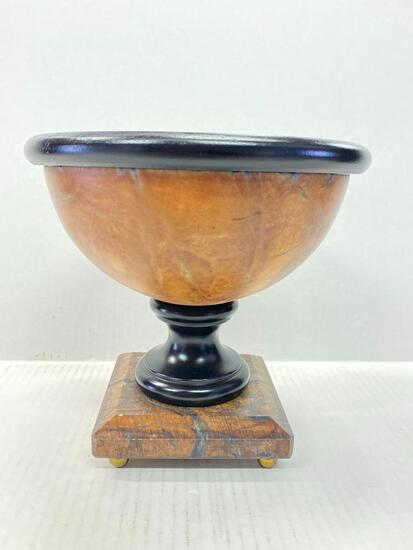 """Decorative Marble Bowl on Pedestal. This is 7.5"""" T x 7.5"""" W - As Pictured"""