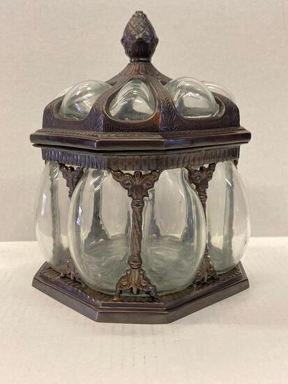 """Decorative Canister w/Lid. This is 9"""" Tall - As Pictured"""
