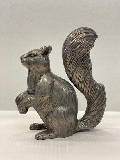 """Pewter Squirrel. This is 8"""" Tall - As Pictured"""