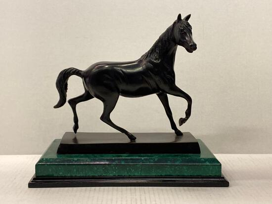 """Cast Iron Horse Statue. This is 11"""" T x 12"""" L - As Pictured"""