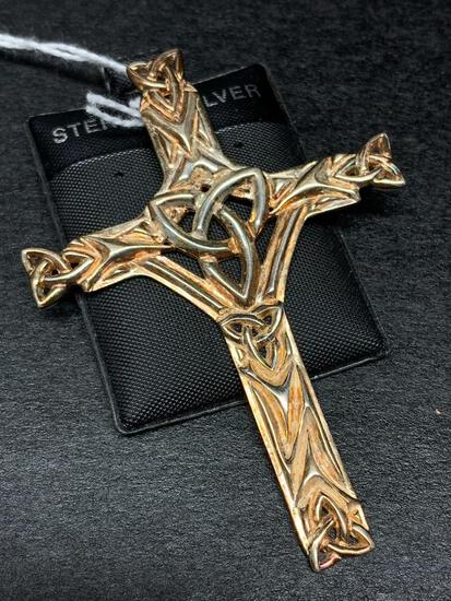 925 Sterling Silver Cross Pendant - As Pictured