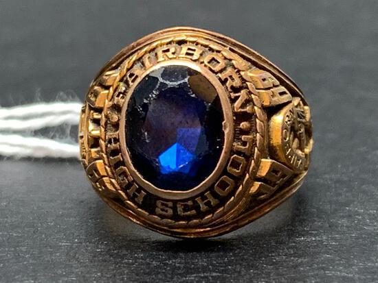 10 KT Gold Jostens Class Ring. the Weight is 10 Grams. 1969 Fairborn High School - As Pictured